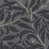 Morris Pure Willow Bough Charcoal / Black Wallpaper