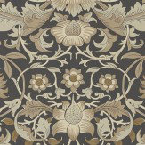 Morris Pure Lodden Charcoal / Gold Wallpaper