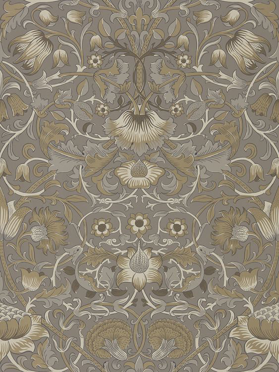 Morris Pure Lodden Taupe / Gold Wallpaper main image