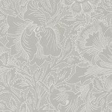 Morris Pure Poppy Dove / Chalk Wallpaper