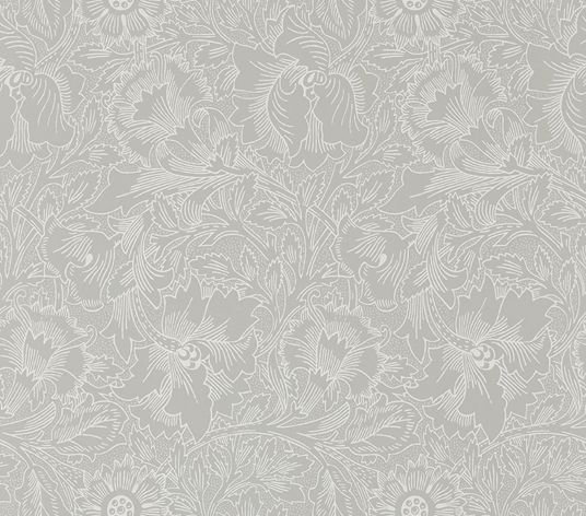 Morris Pure Poppy Dove / Chalk Wallpaper main image