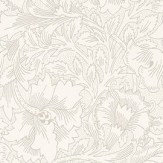 Morris Pure Poppy Ecru / Stone Wallpaper