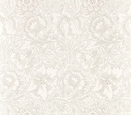 Morris Pure Poppy Ecru / Stone Wallpaper - Product code: 216034