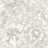 Morris Pure Poppy Cream / Gold Wallpaper