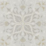 Morris Pure Net Ceiling Stone / Chalk Wallpaper - Product code: 216037