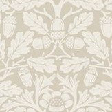 Morris Pure Acorn Linen / Ecru Wallpaper - Product code: 216040