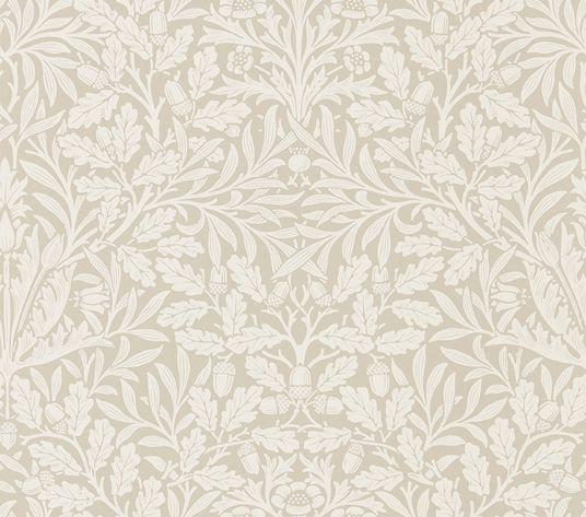 Morris Pure Acorn Linen / Ecru Wallpaper - Product code: 216040