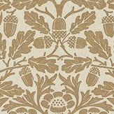 Morris Pure Acorn Gilver / Copper Wallpaper