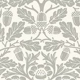 Morris Pure Acorn Ecru / Pewter Wallpaper - Product code: 216042