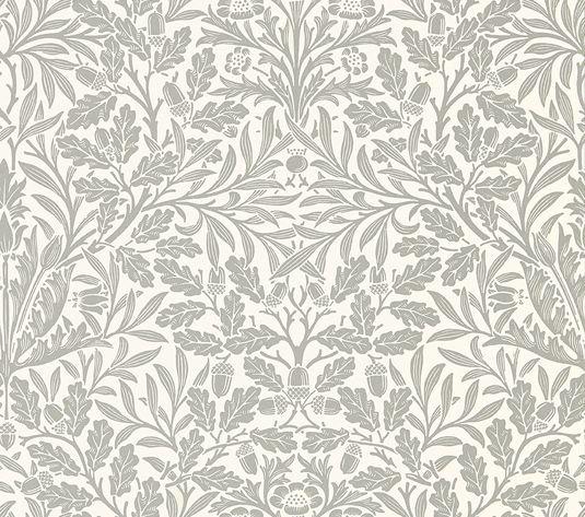 Morris Pure Acorn Ecru / Pewter Wallpaper main image