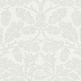 Morris Pure Acorn Chalk / Silver Wallpaper