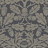 Morris Pure Acorn Charcoal / Gilver Wallpaper - Product code: 216033