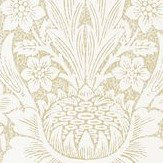 Morris Pure Sunflower Parchment / Gold Wallpaper