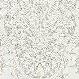 Morris Pure Sunflower Chalk / Silver Wallpaper