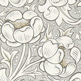 Morris Pure Bachelors Button Stone / Linen Wallpaper