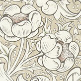 Morris Pure Bachelors Button Linen / Coral Wallpaper - Product code: 216051