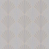 JAB Anstoetz  Swing Silver / Charcoal Wallpaper