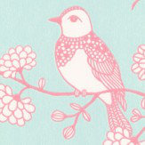 Majvillan Sugar Tree Soft Turquoise Wallpaper