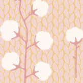 Majvillan Sweet Cotton Soft Pink Wallpaper