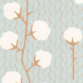Majvillan Sweet Cotton Soft Blue Wallpaper
