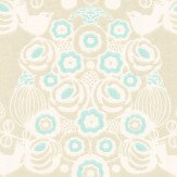 Majvillan Estelle Khaki and Turquoise Wallpaper