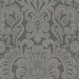 Thibaut Dorian Damask Charcoal Wallpaper - Product code: T89108
