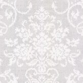 Thibaut Alicia Damask Metallic Silver Wallpaper - Product code: T89119