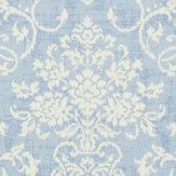 Thibaut Alicia Damask Blue Wallpaper