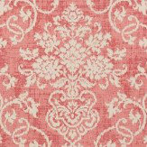 Thibaut Alicia Damask Raspberry Wallpaper
