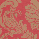 Thibaut Passaro Damask Metallic Gold / Red Wallpaper - Product code: T89142