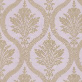 Thibaut Clessidra Damask Metallic Gold / Lilac Wallpaper - Product code: T89158