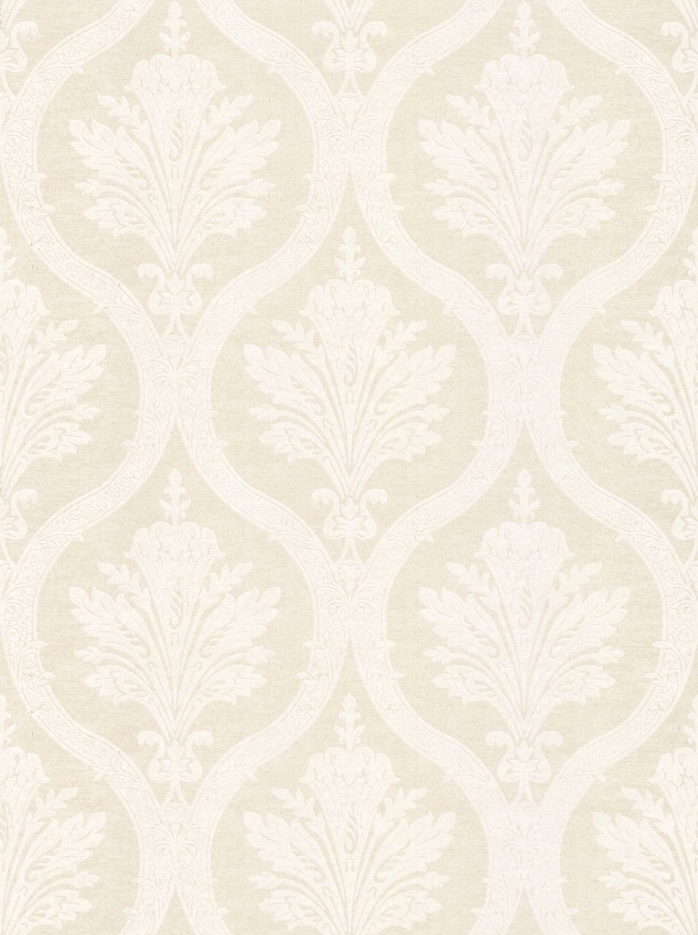 Thibaut Clessidra Damask Beige Wallpaper - Product code: T89164