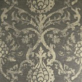 Thibaut Private Damask Smoke / Foil Wallpaper - Product code: T89177