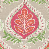 Thibaut Midland Pink and Coral Fabric