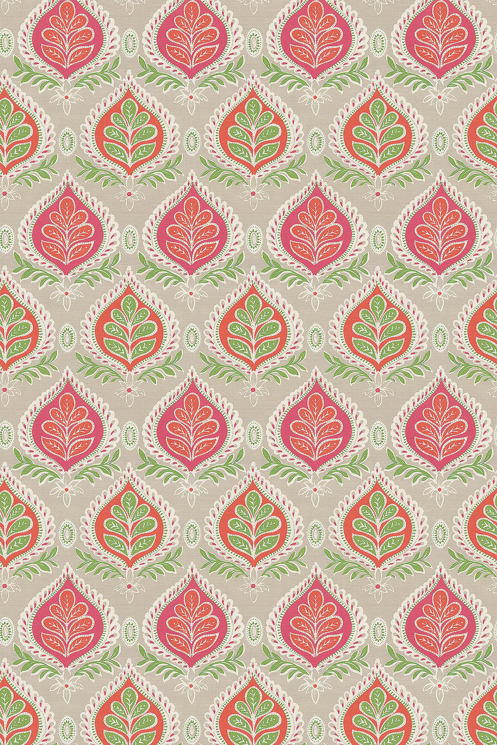 Midland Fabric - Pink and Coral - by Thibaut