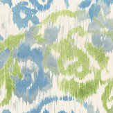 Thibaut Waterford Floral Blue and Green Fabric