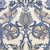 Thibaut Peacock Garden Blue Fabric