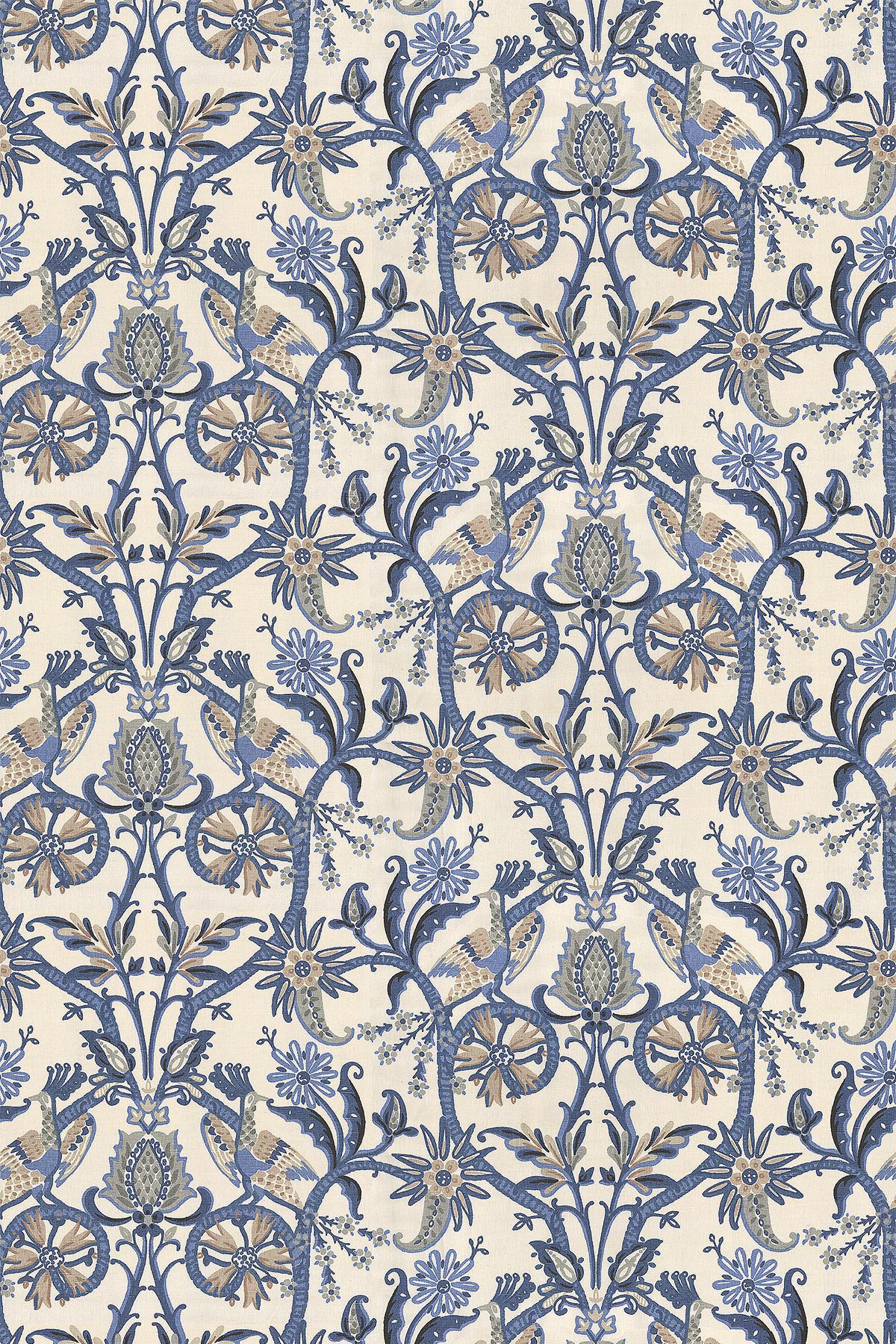 Image of Thibaut Fabric Peacock Garden, F924356
