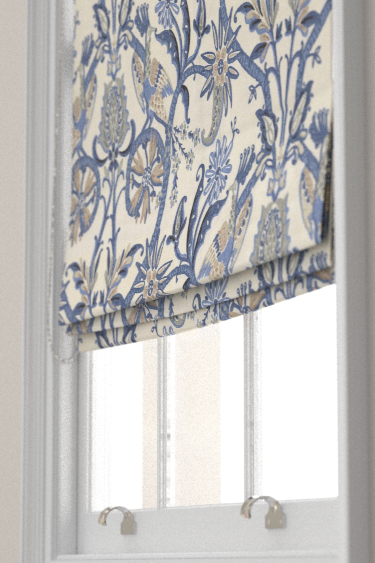 Thibaut Peacock Garden Blue Blind