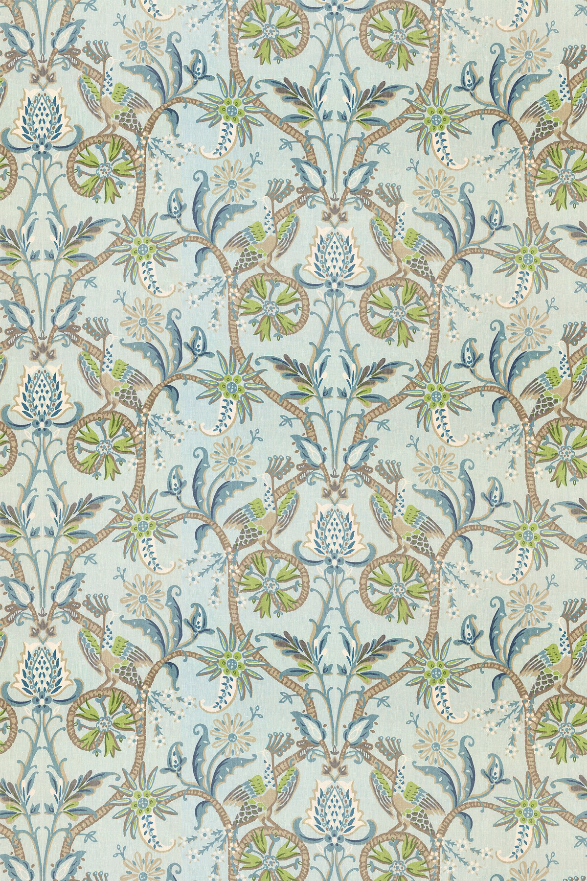 Image of Thibaut Fabric Peacock Garden, F924360