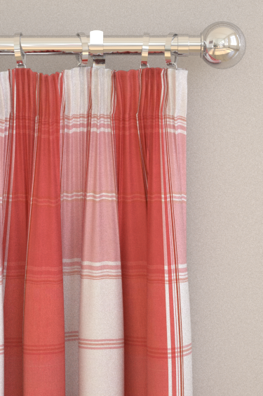 New England Plaid curtains by Thibaut - Raspberry : Wallpaper Direct