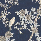Ralph Lauren Marlowe Floral Prussian Blue Wallpaper - Product code: LWP30570W