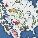 Ralph Lauren Expedition Novelty Map Baltic Blue Wallpaper - Product code: LWP62185W