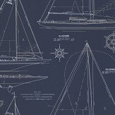 Ralph Lauren Collection Chesapeake White / Navy Wallpaper