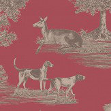 SketchTwenty 3 Hunters Lodge Wine Wallpaper