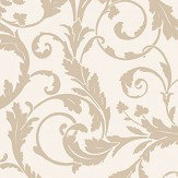 SketchTwenty 3 Scroll Gold Wallpaper