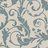 SketchTwenty 3 Scroll Teal Wallpaper