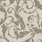 SketchTwenty 3 Scroll Taupe Wallpaper