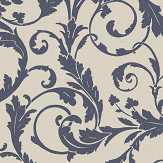 SketchTwenty 3 Scroll Blue Wallpaper