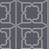 SketchTwenty 3 Trellis Royal Blue Wallpaper